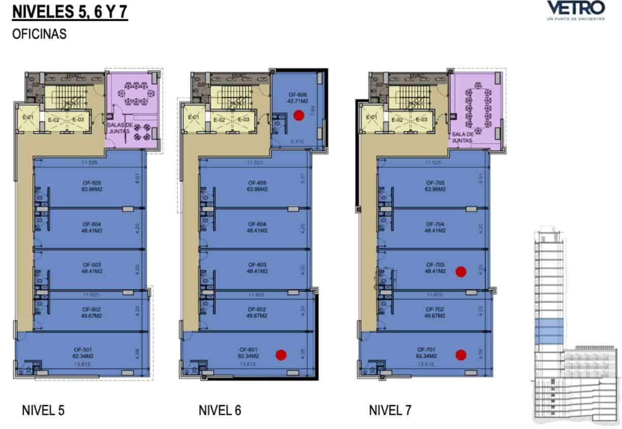 Plano Oficinas - Torre Vetro Garza Sada