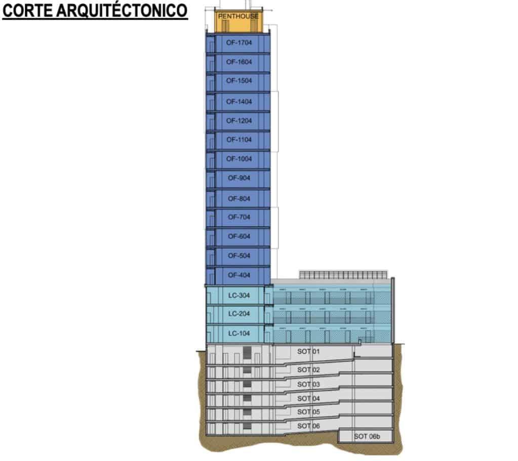 Plano del Proyecto - Torre Vetro