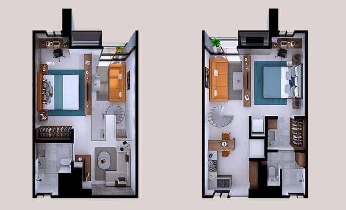 Departamento Loma - 51 m2; 1 Rec