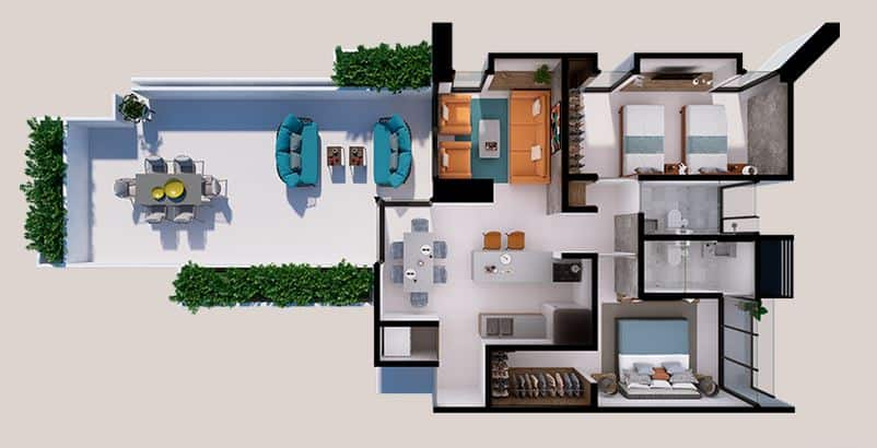 Departamento Marco Plus - 141.9 m2; 2 Rec