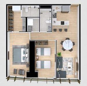 LALO Departamentos Monterrey en Pre Venta de 2 recamaras con 93 m2
