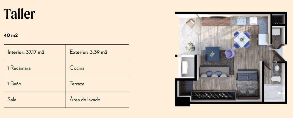 Taller de 40 m2 - Vía Zócalo