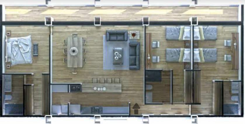 Departamento C 166.10 m2 - 3 Recámaras