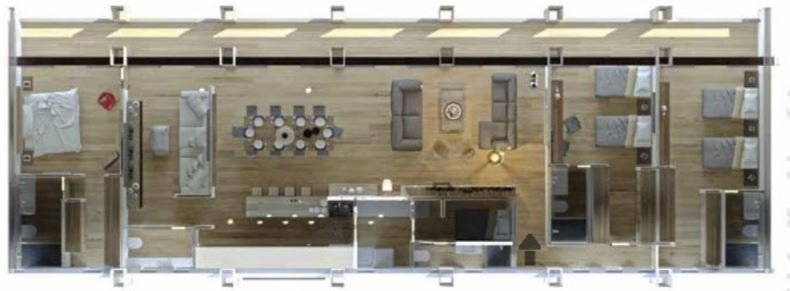 Departamento E 232.54 m2 - 3 Recámaras