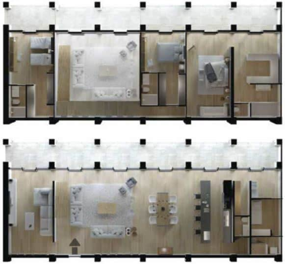 Penthouse 332.20 m2 - 4 Recámaras