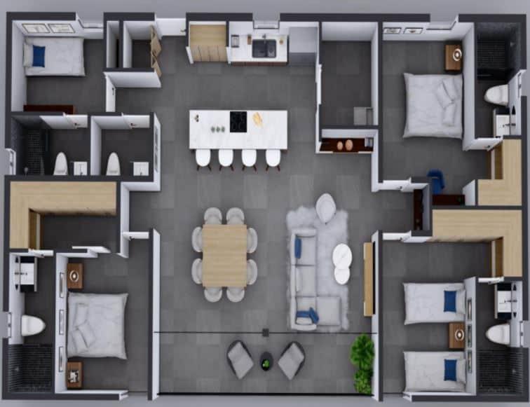 Penthouse 155m2 ; 3 Rec, 4.5 Baños